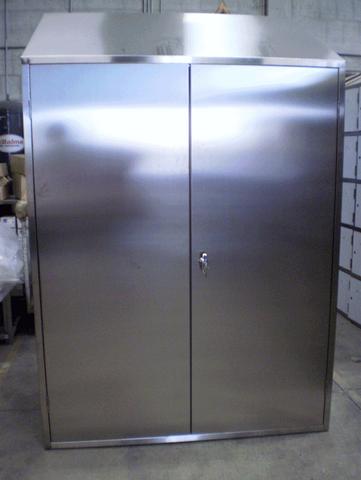 Offerte arredamento in acciaio inox armadietto spogliatoio in acciaio inox - Mobili in acciaio ...